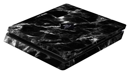 Skins - Sticker für PS4 Slim Konsole (Black Marble)