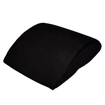 ** Offre de lancement ** Coussin dorsal de haute qualité en gel à mémoire de forme - Contre le lumbago, les problèmes de disques, la douleur en bas du dos - Avec sac de transport