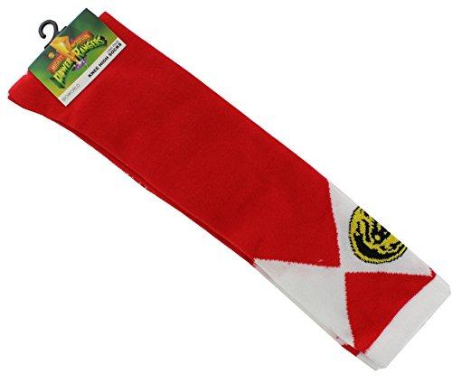 Power Rangers Juniors Knee High Socks Red (Ranger Power Ranger Red Kostüme)