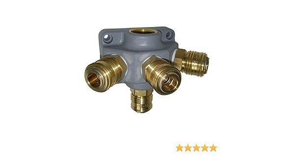 Endverteilerdose Ev 34 G3 1 Kupplung 4 Fach G 3 4 Druckluftverteiler Kunststoff Baumarkt