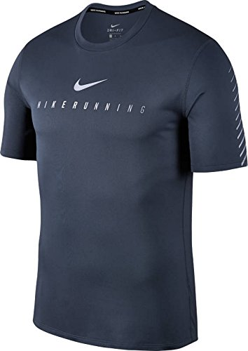 Nike Herren M NK Flash MLR TOP SS SNL GX Kurzarm-Laufshirt, Donnerblau, XL