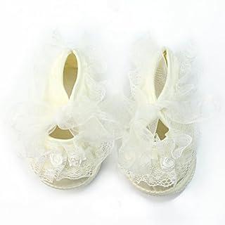 AllBeauty Baby Schuhe mit Spitze, Größe S, Weiß