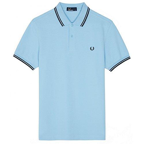 Fred perry uomo doppia punta m3600 polo shirt cielo s