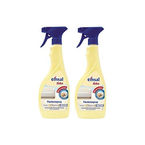 2x emsal tuba Fleckenspray 500 ml - für Polster, Teppiche und Auto geeignet