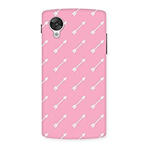 Gorgeous Pink And Arrow Multicolor Back Case Cover for Google Nexsus 5