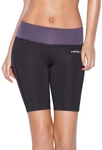 Haby - Short de sport - Jegging - Uni - Femme Gris - Gris