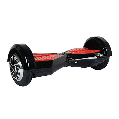 Megawheels 8 Inch Hoverboard Electic Scooter UL Certificate (Nero-Rosso)