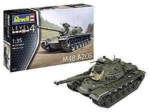 Revell-M48 A2CG, Escala 1:35 Kit de Modelos de plástico, Multicolor, 1/35 (Revell 03287 3287)