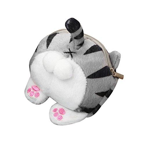 Longzjhd Mädchen Süß Katze Geldbörse Geldbörse Tasche Kawaii Geld Lagerung Geschenk Geldbörsen Frauen Mini Nette Katze Butt Plüsch Geldbörse Ändern Handtasche Tasche Portmonaise