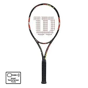 Wilson Burn 100 Team Tennis Racquet (Black)