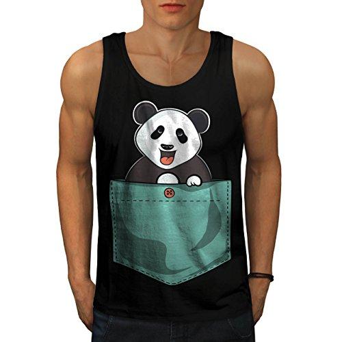Motte Bar (Panda Bär Niedlich Tasche Men XL Tank Top | Wellcoda)