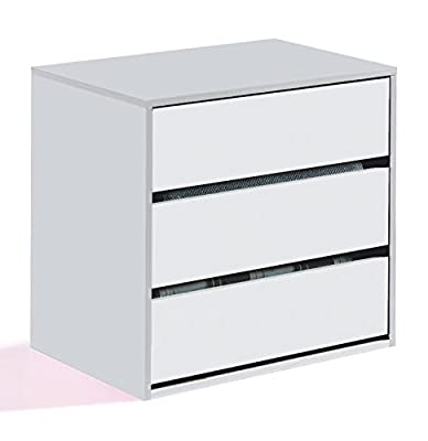 Savona Universal Wardrobe Internal Storage Drawers Unit White by furniturefactor - cheap UK light store.