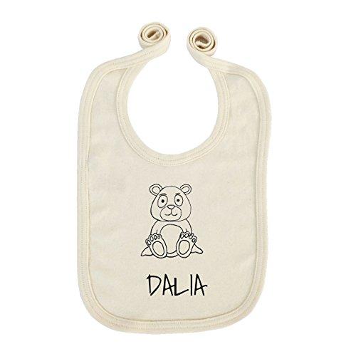 JOllipets Baby Kinder Lätzchen - DALIA - 100% BIO ORGANISCH - Design: Bär - ONE SIZE Dalia Bar