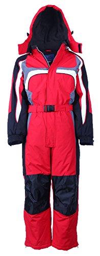 PEEM Schneeanzug Kinder Skianzug Jungen Mädchen Unisex Winteranzug Snowboard Winter | LB1312 Rot 116