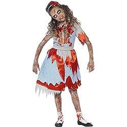 Smiffy's Disfraz zombi chica de campo, color azul (44284S)