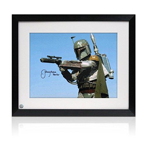 Star Wars Foto von Jeremy Bulloch signiert, Boba Fett: der am meisten gefürchtete. Eingerahmt. Autogramm Sport-memorabilien