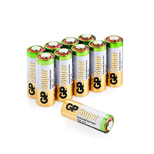 feuerzeug mit kamera Batterien 23A (A23 / MN21 / V23GA / MS21) 12V Batterie, Alkaline High-Voltage, Spannung 12 Volt, 10 Stück (Batterien einzeln entnehmbar) im Multipack (GP Batteries