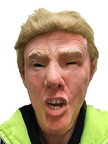 Donald Trump Maske Deluxe mit ECHTHAAR Latex Überkopf USA Politiker Kostüm Masken