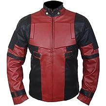 76986abef26 Leatherly Chaqueta de hombre Ryan Reynolds Deadpool Cuero Chaqueta