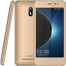 Smartphone Libre, Leagoo Z6 3G Dual SIM Teléfono móvil de doble cámara (R: 5.0MP + F: 2.0MP) y MTK6580M Quad core 1.3MHz procesador RAM 1G ROM 8G 5.0 pulgadas Pantalla 2000mAh batería y sistema Android 6.0, WIFI, Bluetooth , FM, GPS, teléfono G-Sensor oro