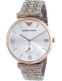Emporio Armani  AR1677 - Reloj de cuarzo para hombre, con correa de acero inoxidable, color multicolor