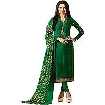 C&H Women's Crepe Dress Material (SKC-6101_Free Size_Green)