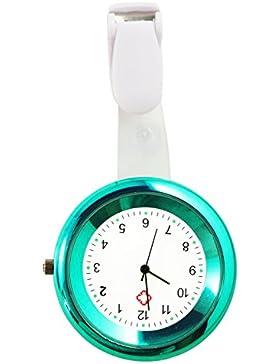 Ellemka JCM-2103 N - Schwesternuhr Ansteckuhr FOB elegante-e medizinisch-e Kittel-Uhr Analog funktional Krankenhaus...