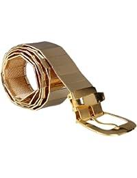 sourcingmap Men Stainless Steel Five Eyelets Detail Adjustable Waist Belt