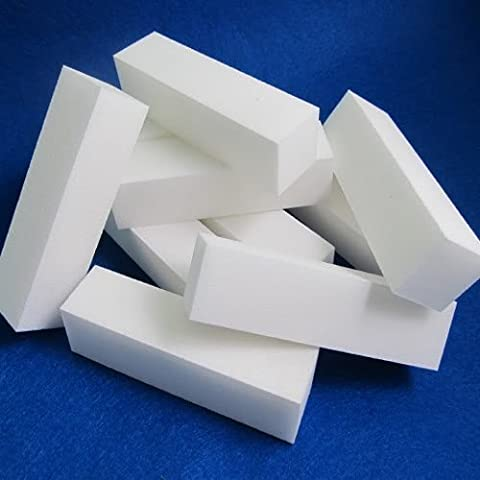 Dansuet 12pcs Buffer lucidatura lime di smeriglitatura blocco acrilico di arte del chiodo punte manicure bianco strumento, punte di arte strumento di manicure del chiodo per le donne