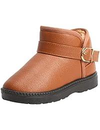 MCYs Winter Warme Mode Kinder Mädchen Jungen Studenten Schneestiefel Schlupfstiefel Winterschuhe Boots