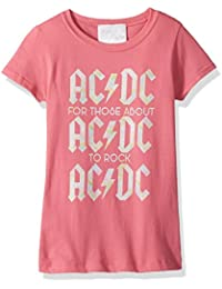AC/DC Girl's ACDC About to Rock Short Sleeve T-Shirt