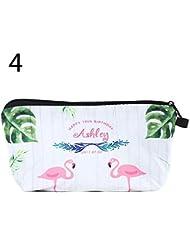 Flamingo, M + S Kosmetikk/öfferchen Kosmetikkoffer Kosmetiktasche Kulturbeutel Kulturtasche Kinderkoffer Kulturtasche f/ür Reisen Toilettenartikel f/ür Damen M/ädchen Frauen Make-up