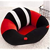 Baby Sofa,Baby Support Seat Sofa Plush And PP Cotton Protector Cushion Sitting Sofa For 0-2 Year Old Baby In Red 7 Black Color