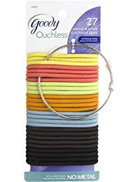 Goody Ouchless Elastic Carmen, 4 Mm, 27 Count (Pack Of 3)