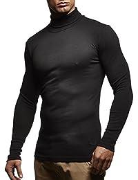 Suéter / camiseta de cuello alto para hombre (tallaje ajustado) ; Tamaño L, antracita