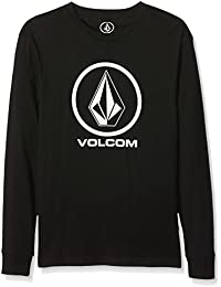 Volcom Circle Stone BSC–Boy de manga larga grande), color negro