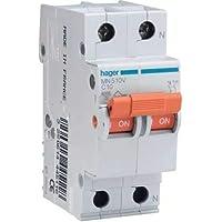Hager M144697 - Magnetotermico 1 polo + neutro naranja 16a