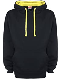 FDM Unisex Contrast Hoodie Black/ Empire Yellow L