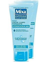 MIXA Crème pour Corps Fondante Hydratation 48H Peaux Sèches/Déshydratées 100 ml -