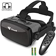 VeeR Falcon VR Headset with Controller, Eye Protection Virtual Reality Goggles to Comfortable Watch 360 Movies