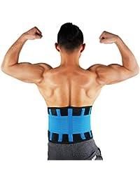 SGIN Lordosenstützgürtel Mit zwei verstellbaren Trägern zur Linderung von Kreuzschmerzen, Skoliose, Bandscheibenvorfall und Ischias für Männer und Frauen - Blau