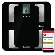 Terraillon Báscula conectable para Smartphone o tablet con 8memorias de usuarios, con sistema Bluetooth Smart con un peso máximo de 160kg, 1.9 kilograms, color negro, Web Coach Prime