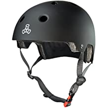 Triple 8 Kopfschutz Brainsaver Double Certification - Casco de skateboarding, color Negro, talla XS/S
