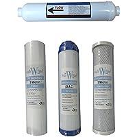 Sistema di filtraggio dell' acqua a osmosi inversa filtro Set (4filtri/annuale di ricambio Filtri Acqua RO)