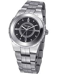 Reloj TIME FORCE de señora. Acero. Esfera negra TF-3398L01M