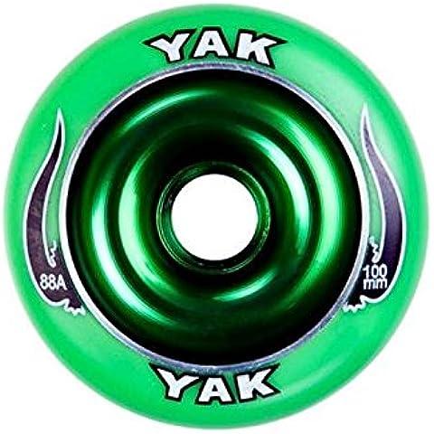 Yak largo 100 mm ruedas Scooter - verde