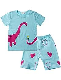 35aa07e55a 2PCs Neonato T-Shirt Coccodrillo Lettera Stampata Camicia Cime + Striscia  Variopinta Pantaloncini Jimmackey Completo