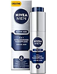 Nivea Men Active Age Vitalisierende Tagespflege im 1er Pack (1 x 50 ml), straffende Gesichtscreme für Männer mit Kreatin, Anti Age Gesichtscreme