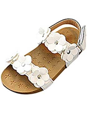 PAOLIAN Verano Cómodo Suave Playa Zapatos para Niña Princesa Calzado Breathable Casual Encantador Floral Suela...
