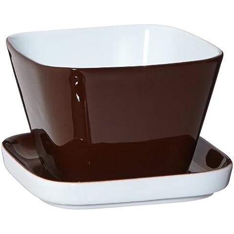 Kahla Abra Cadabra 20A388A70307C - Set da 2 tazze con coperchio, colore: Marrone cioccolato